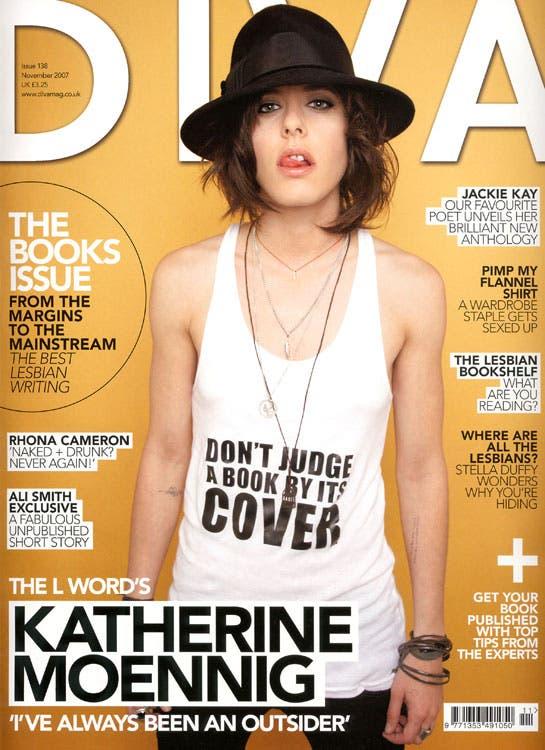 Katherine Moennig en la portada de DIVA