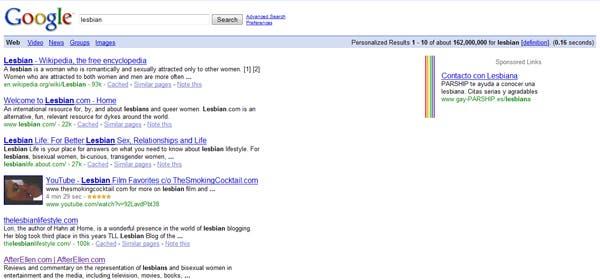 Google se pone lesbicanario