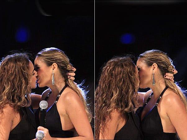 El beso de Daniela Mercury y Alinne Rosa en vídeo