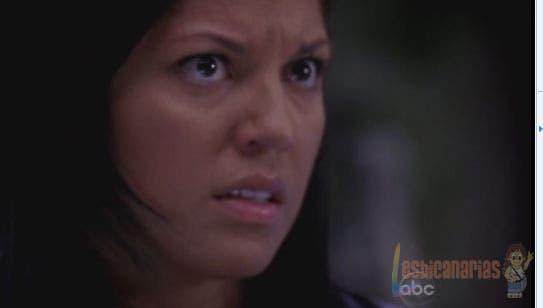 Callie Torres asustada