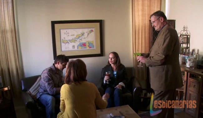 Owen, Gina, El Coronel y Guya intentando hacer como que se llevan bien