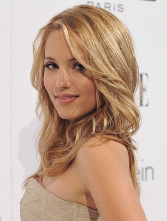 Dianna Agron quiere besar a Heather Morrison en Glee