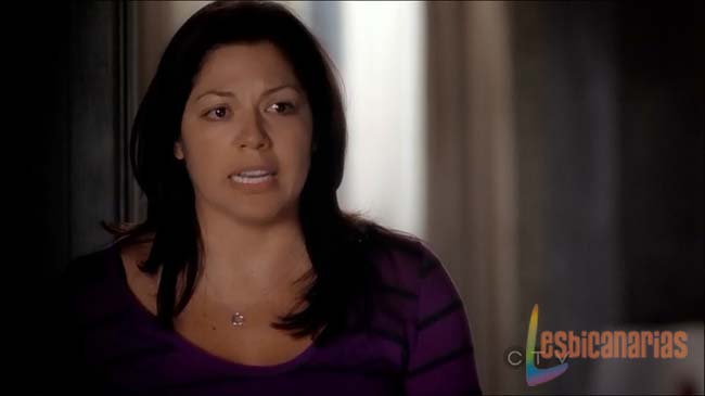 Callie gritándole a Arizona
