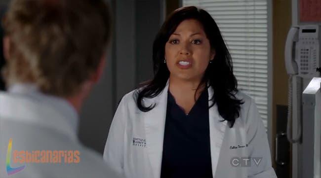 Callie rogándole a Owen que aplique su plan