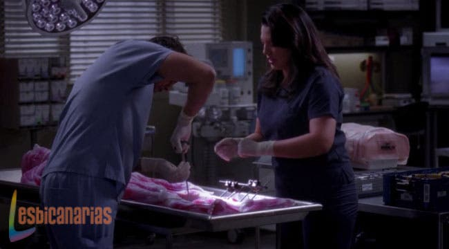 Callie enseñando a meter caña