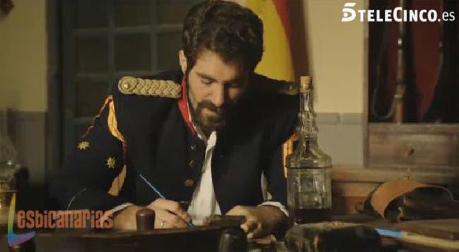 El Teniente escribiendo la carta