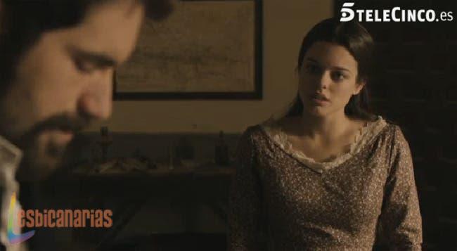 Isabel interrogando a Ruiz