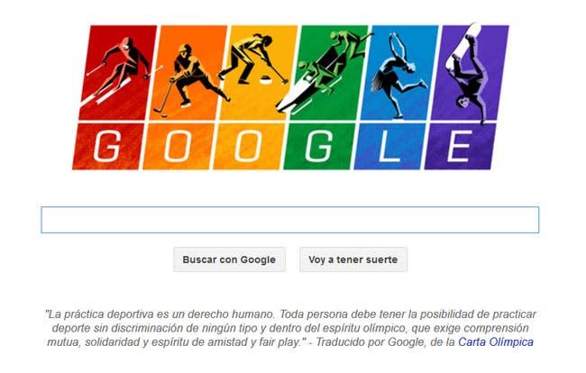 Google reivindica la igualdad en los Juegos Olímpicos
