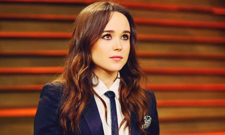 Ellen Page en la fiesta de los Oscars de Vanity Fair