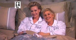 Ellen y Portia en la cama con Jimmy Kimmel