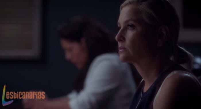 Callie y Arizona en la junta