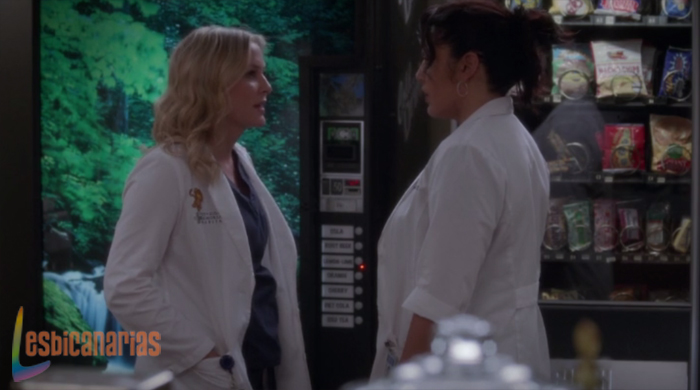 Callie y Arizona en el hospital