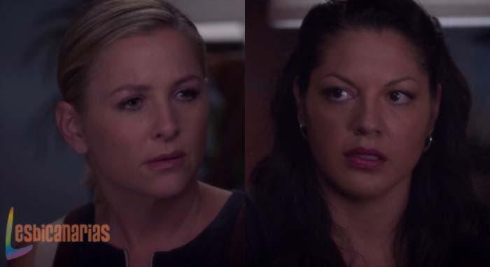 Callie y Arizona discutiendo