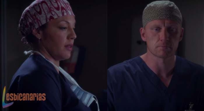 Owen y Callie en Anatomía de Grey