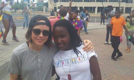 Ellen Page celebra el día del orgullo LGBT en Jamaica