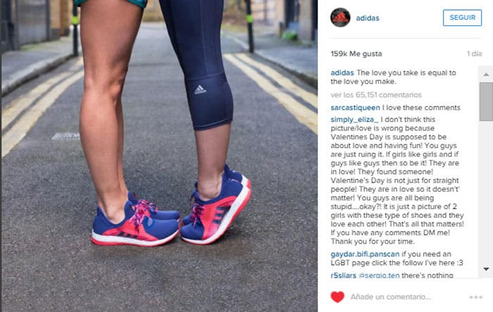 Adidas responde con amor a los comentarios homófobos
