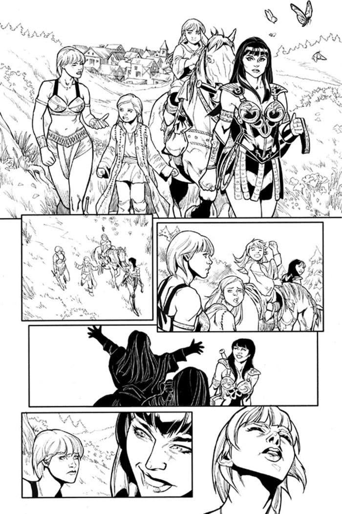 Xena primeras páginas