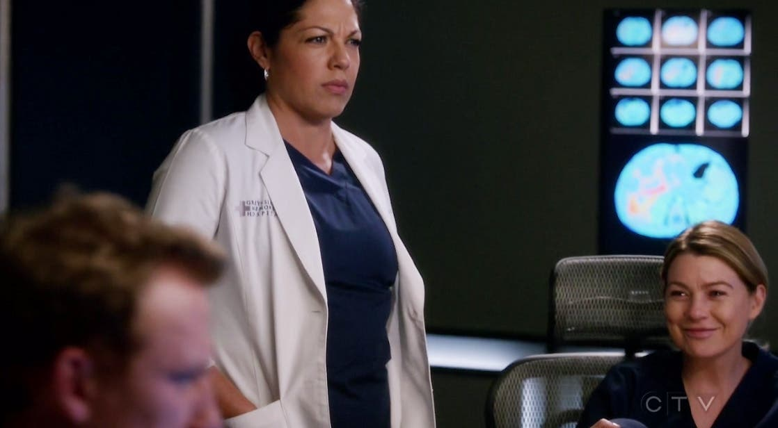 Callie y Meredith bromeando
