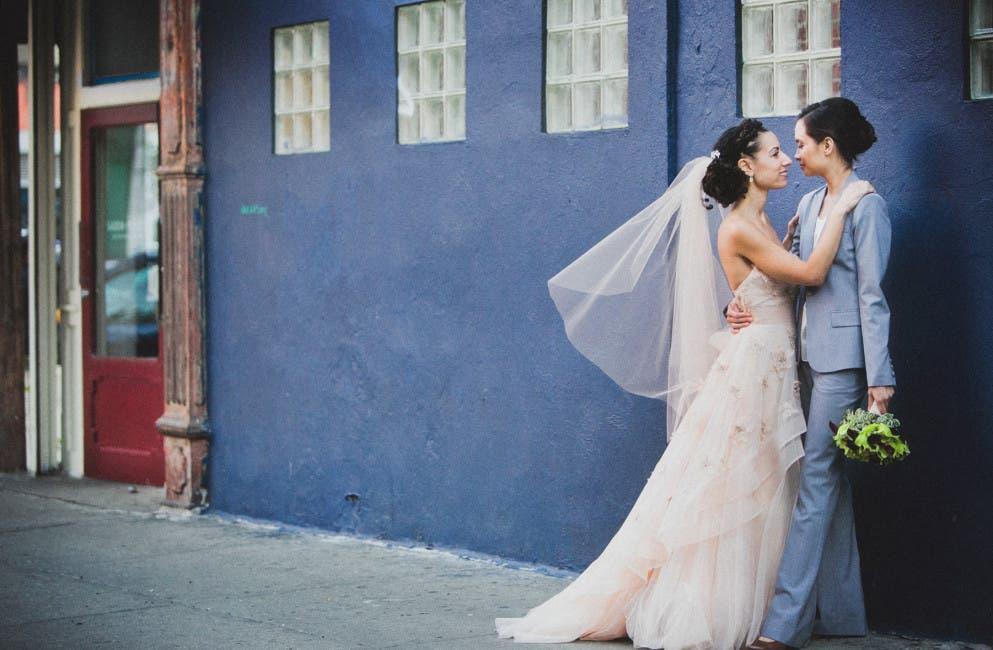 Ria y Robin boda lésbica