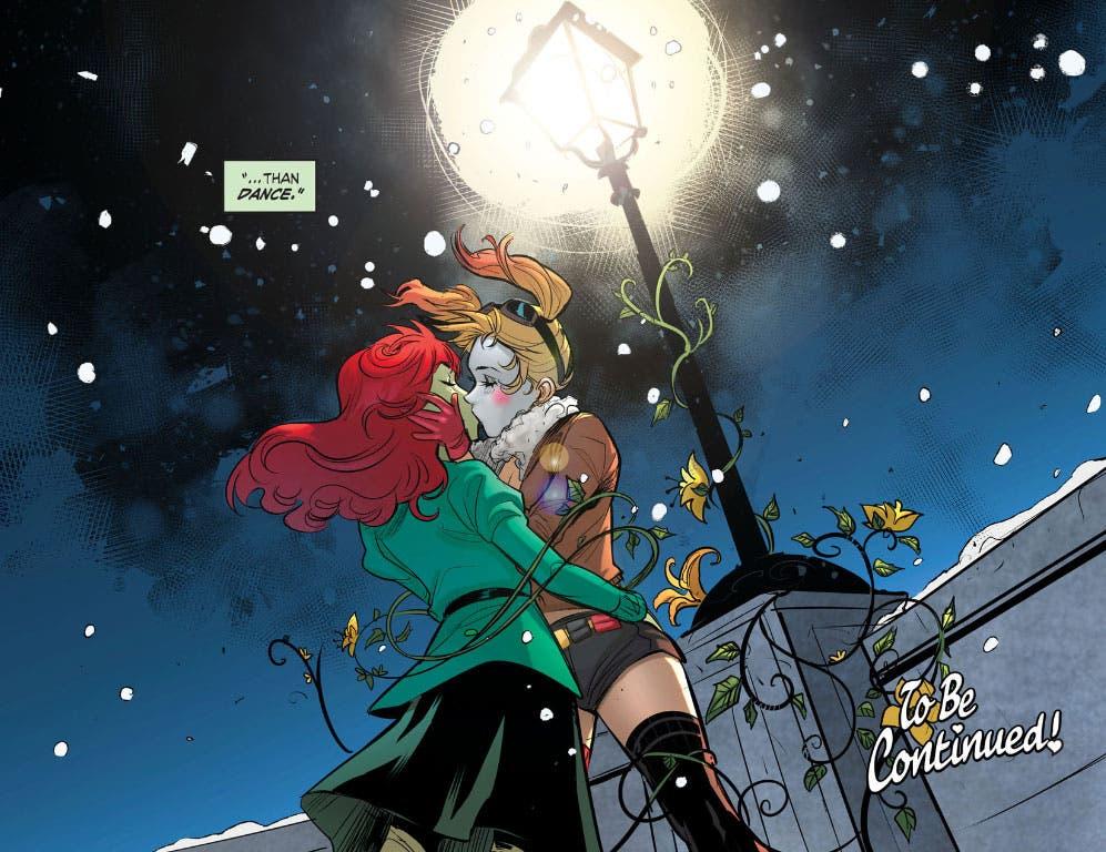 Beso de Harley Quinn y Poison Ivy en Bombshells
