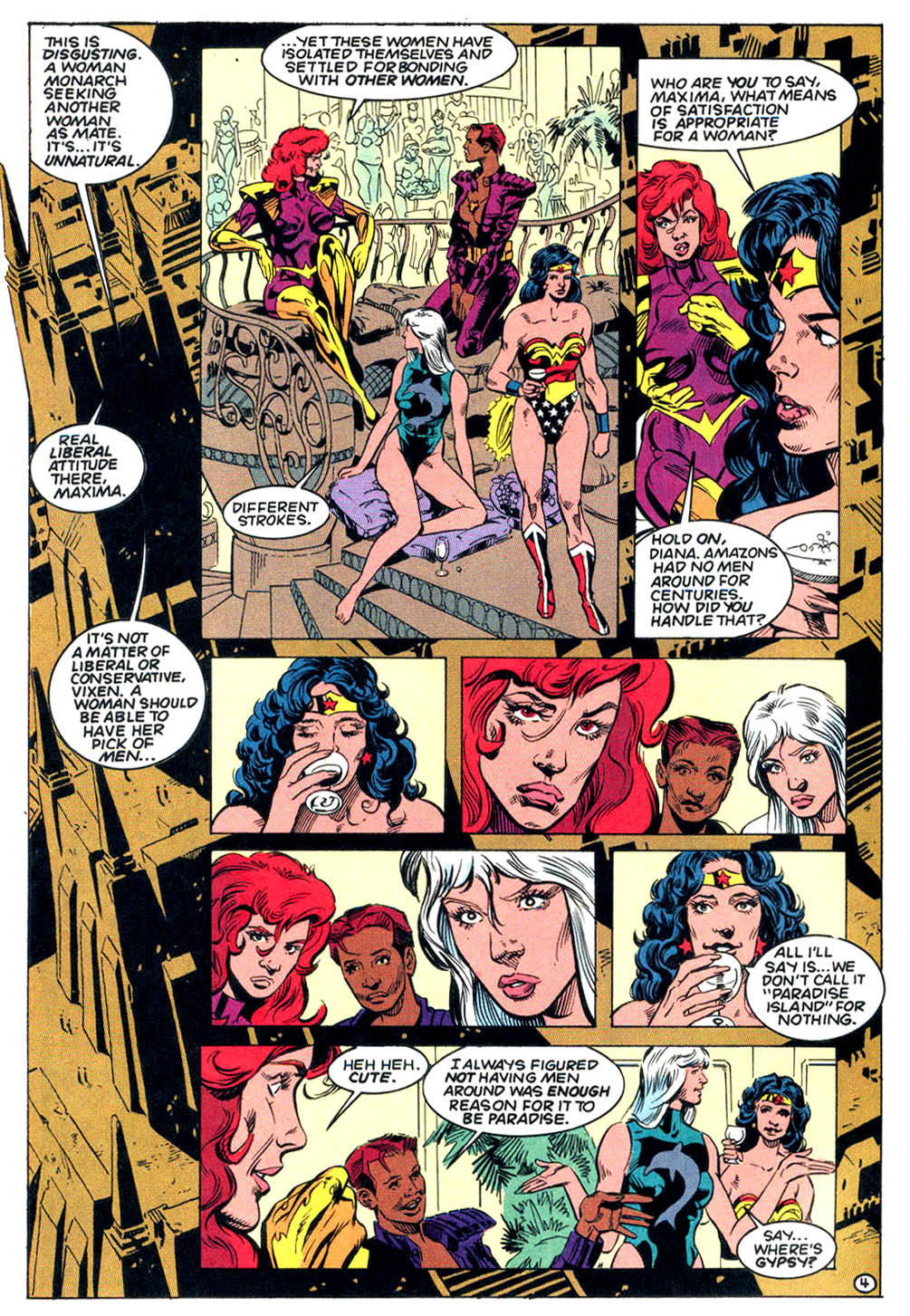 Justice League Task Force Mujer Maravilla lesbiana