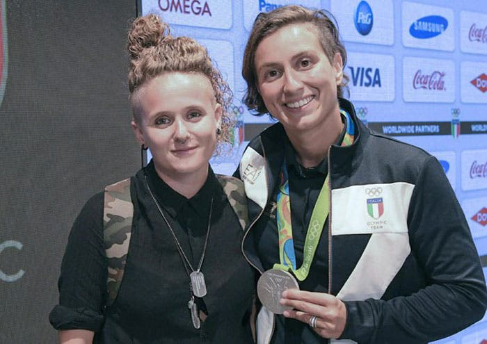 La nadadora italiana Rachele Bruni le ha dedicado su medalla a su novia