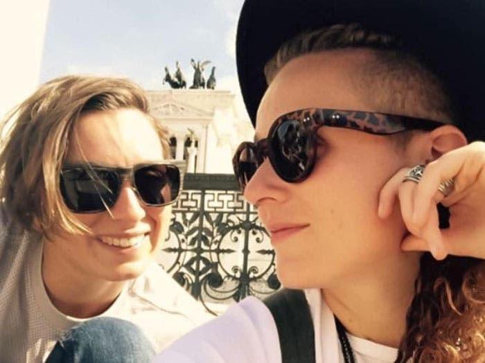 Rachele Bruni y su novia Diletta