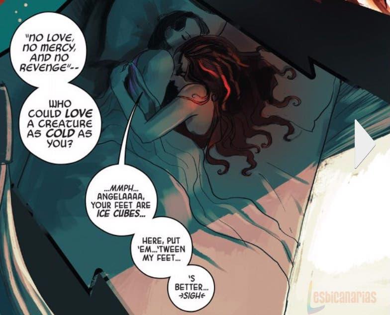 Angel y Sera en la cama