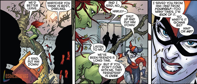 Harley Quinn y Poison Ivy discuten por El Joker