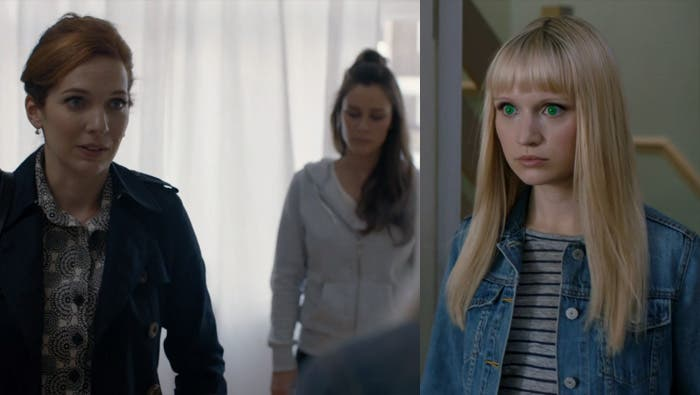 Laura hablando con Astrid y Niska