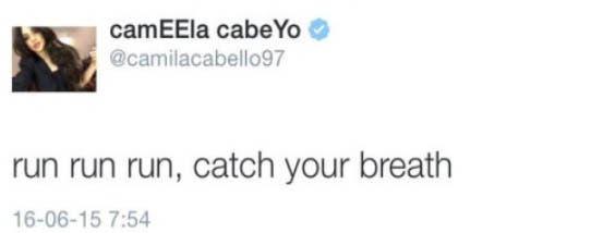 Camila respuesta correr Camren