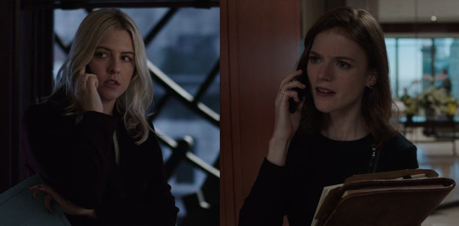 Maia y Amy hablando por teléfono