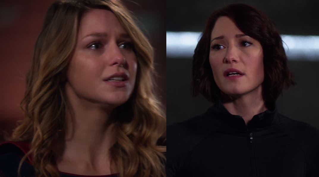 Supergirl y Alex hablando