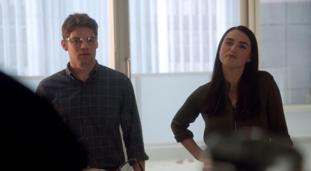 Lena Luthor y Winn trabajando