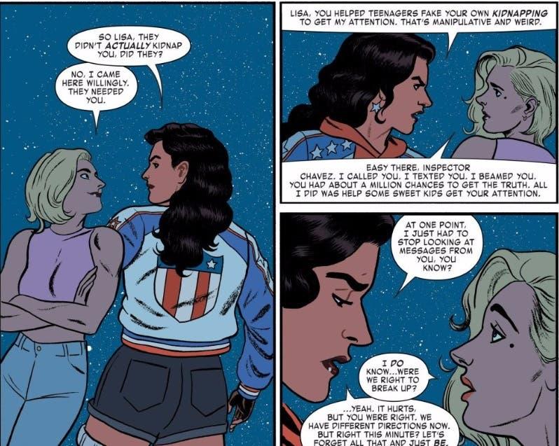 Lisa y America Chavez después de la batalla