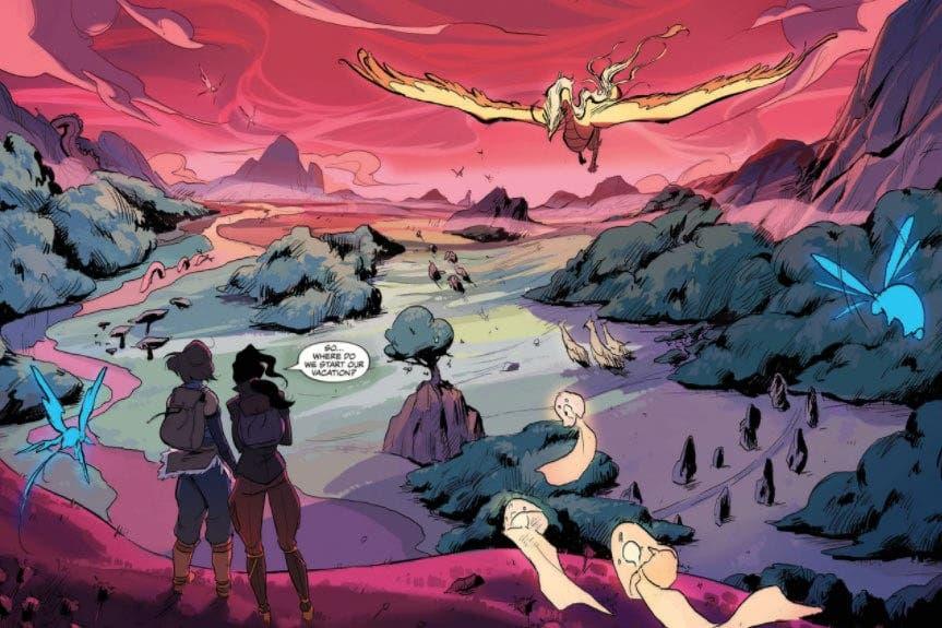 Korra y Asami en Turf Wars 1