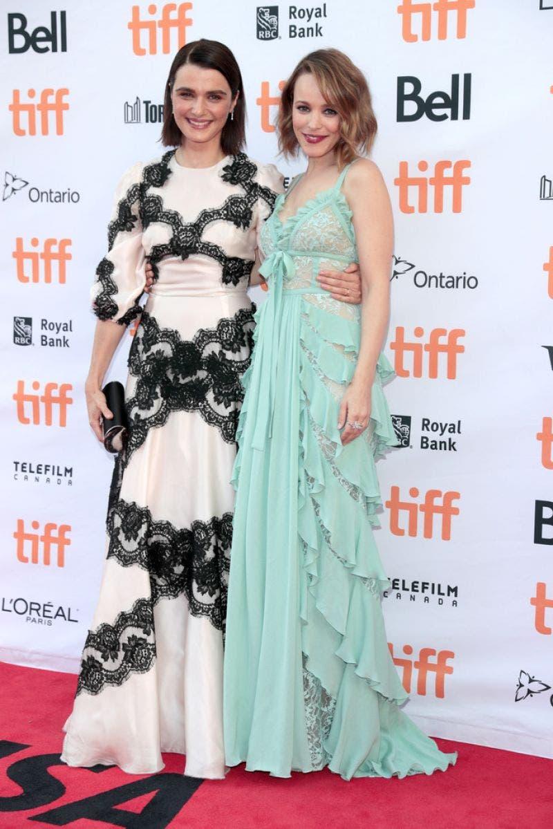 Rachel Weisz y Rachel McAdams promocionando Disobedience