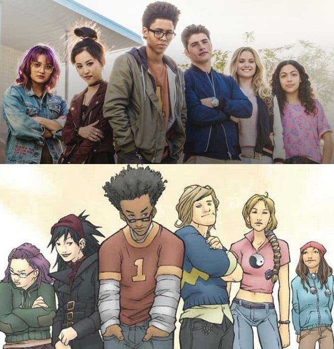 Runaways serie vs cómic