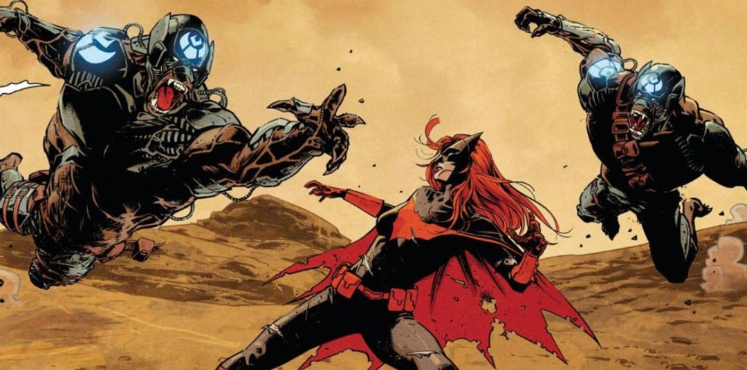 Batwoman luchando