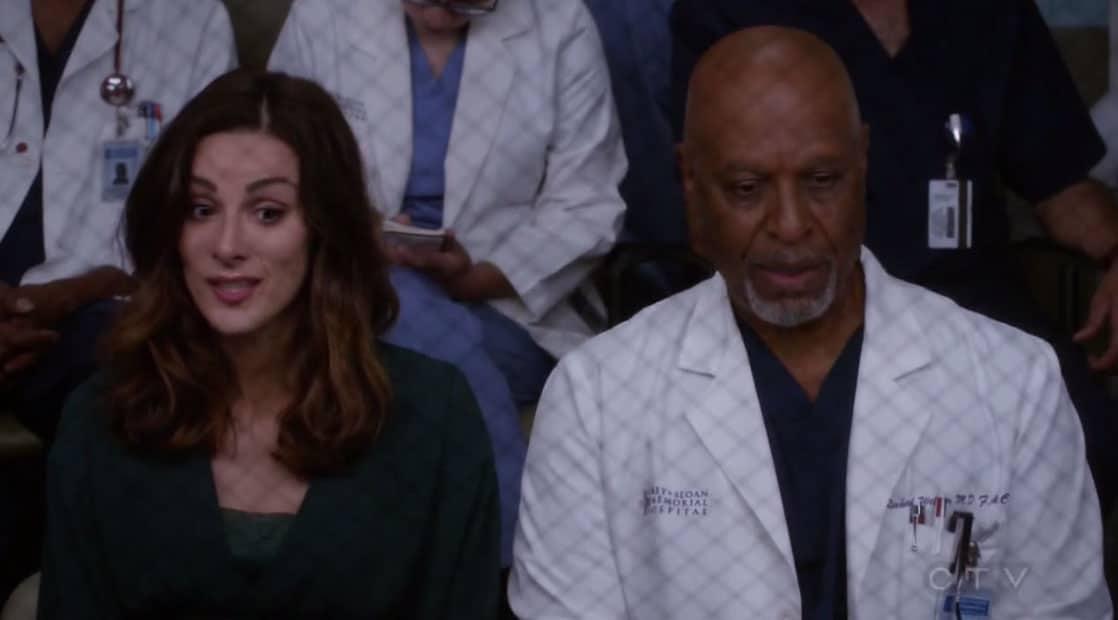 Carina y Richard en Anatomía de Grey