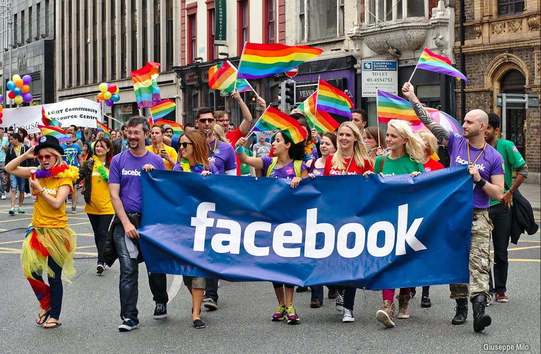 Facebook gay pride