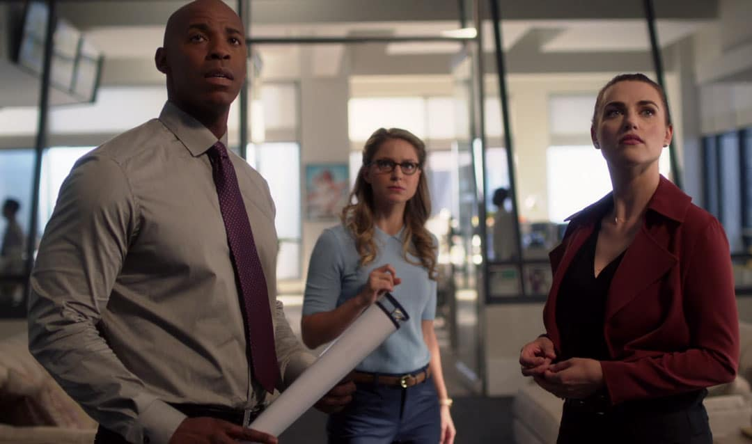 Kara, Lena y James en Supergirl