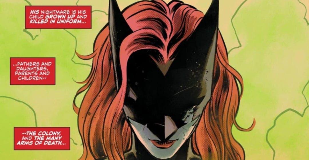 Batwoman reflexionando