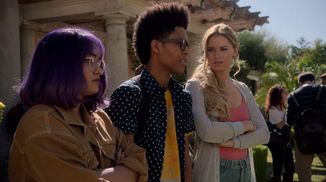 Karolina, Alex y Gert en la escuela
