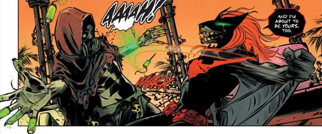 Batwoman luchando contra El Espantapájaros