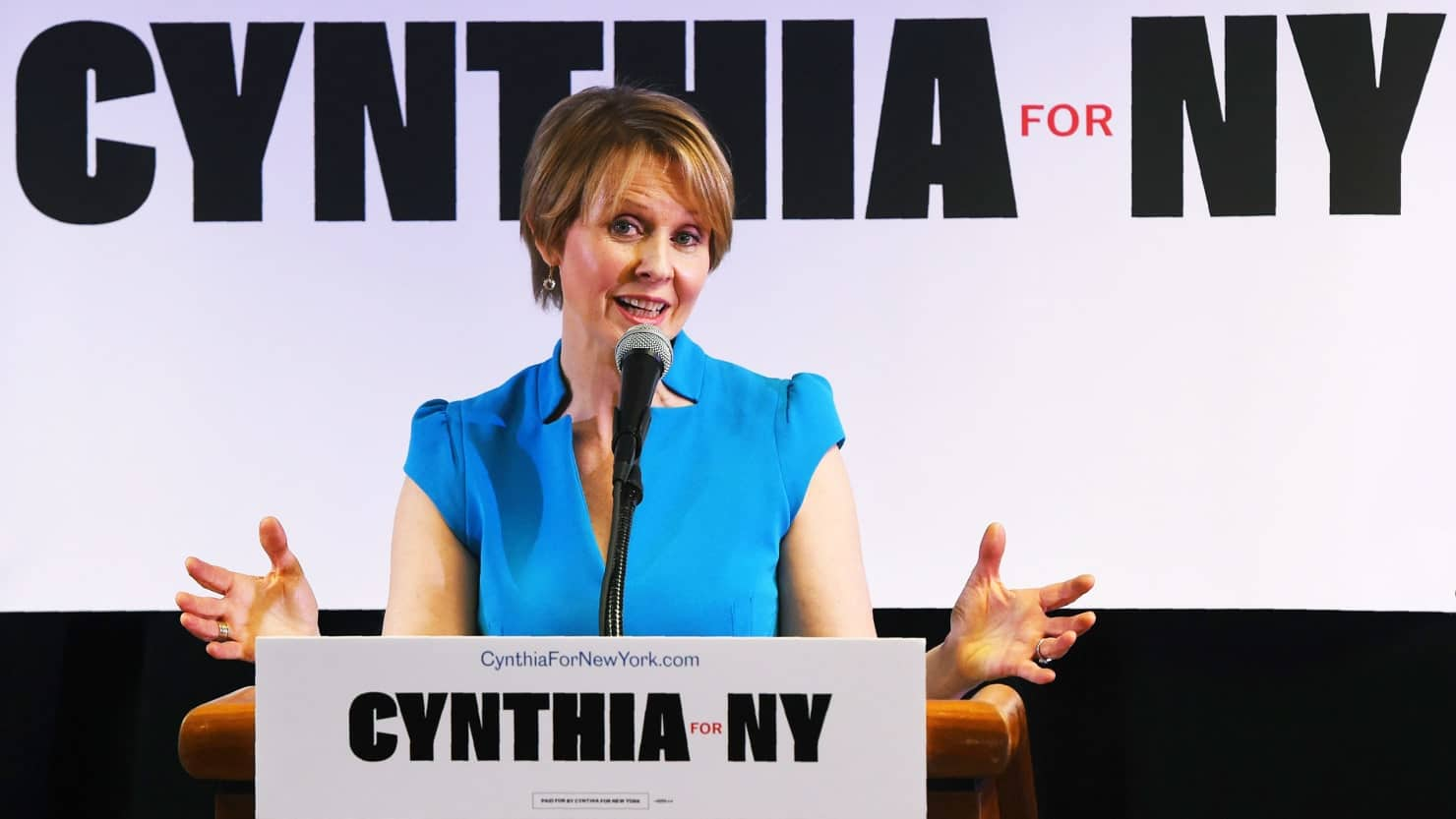 Cynthia Nixon se presenta como candidata a la gubernatura de Nueva York