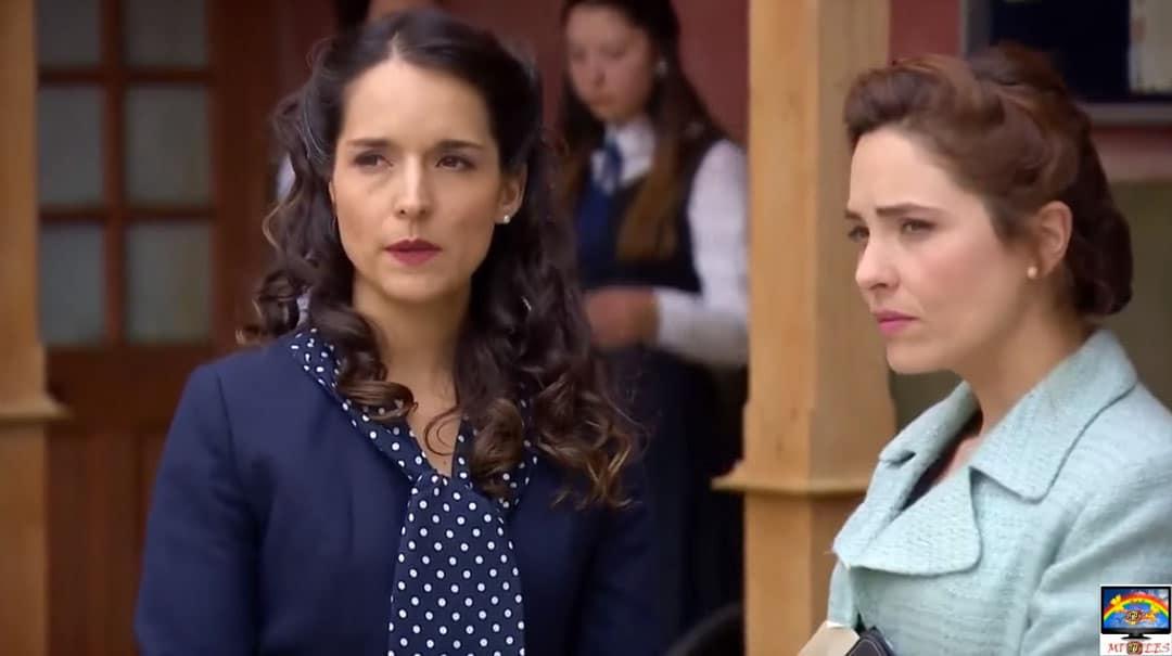 Bárbara y Mercedes en la escuela