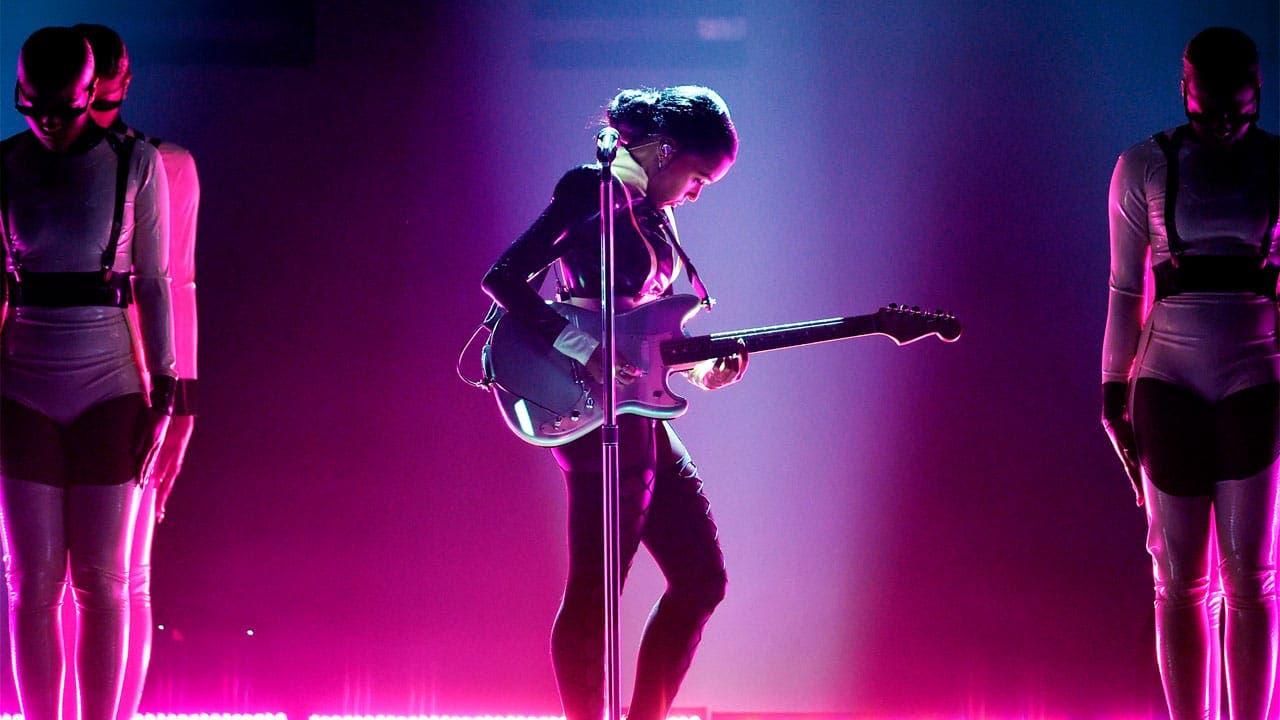 Janelle Monae actuando en los Grammys 2019
