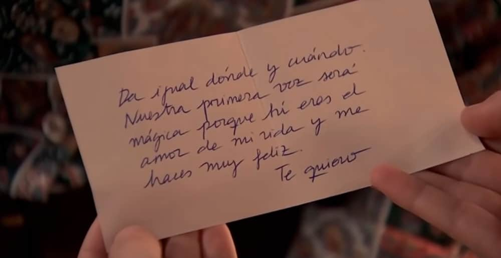 Nota de Amelia a Luisita
