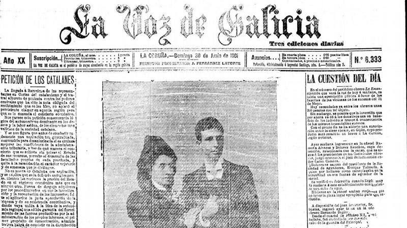 Elisa y Marcela en el periódico la Vos De Galicia